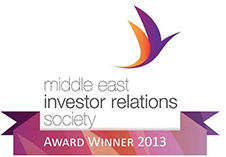 Middle East Investor Relations Society IR Awards Winner 2013