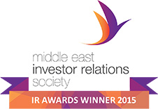 Middle East Investor Relations Society IR Awards Winner 2015